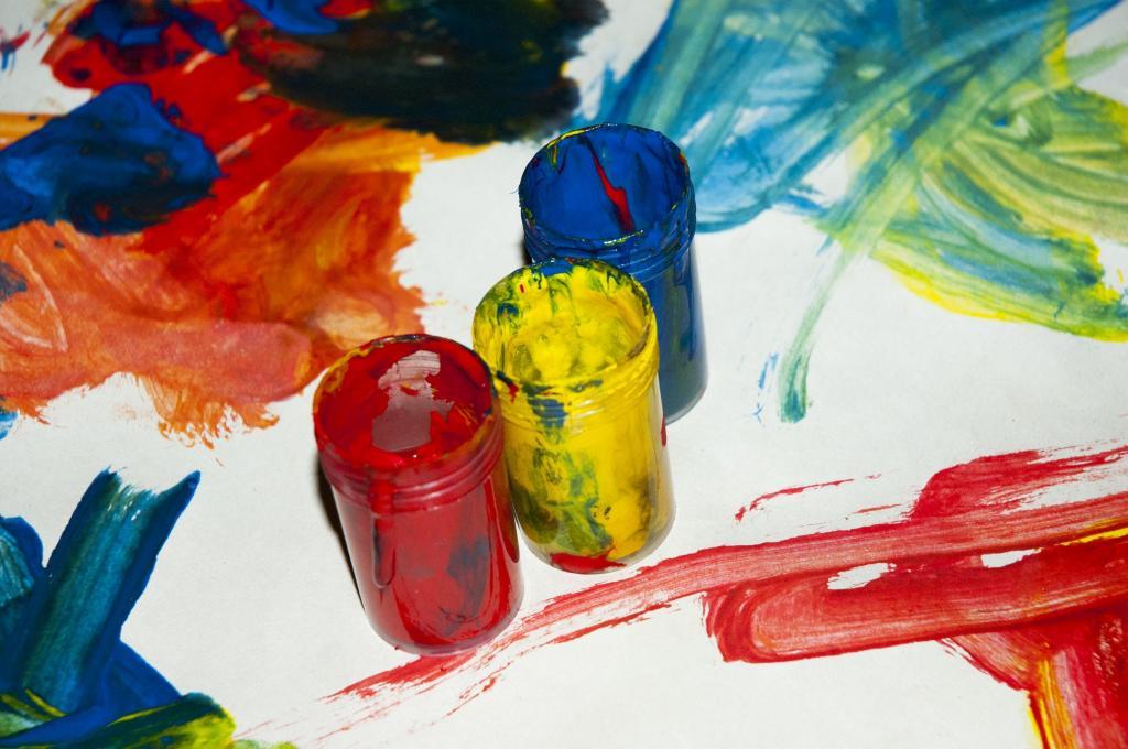 Виды красок для рисования